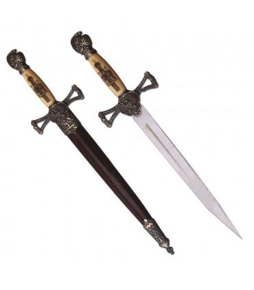 Pugnale medioevale con guaina (35 cm.)