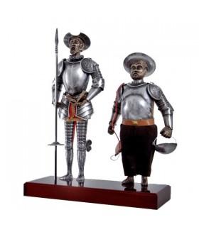 Figura Don Chisciotte e Sancio Panza, 42 cm.