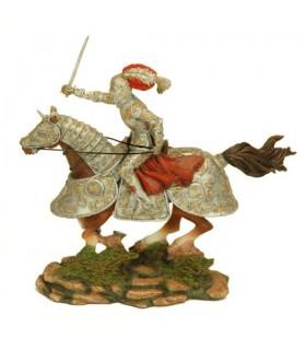Figura cavaliere medievale a cavallo