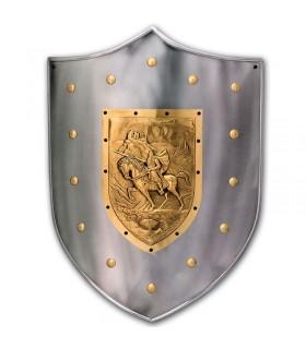 Guerrero scudo medievale