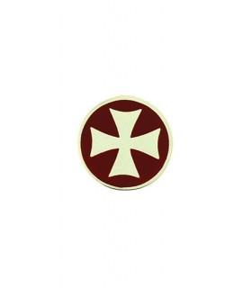 Croce Templare spilla d'argento