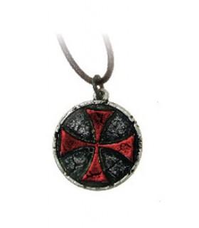 Ciondolo Croce Rossa Templar (3,3 cm.)