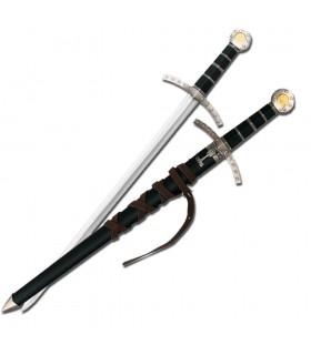 I bambini spada medievale con fodero