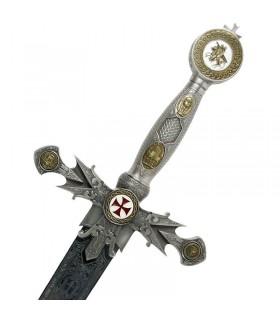 Spada Templare decorata
