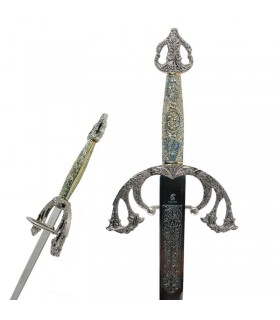 spada Tizona Cid con impugnatura cesellata