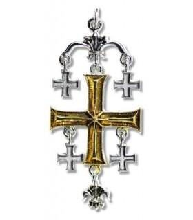 Ciondolo Templare Croce di Gerusalemme