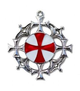 Ciondolo Solar Croce Templare