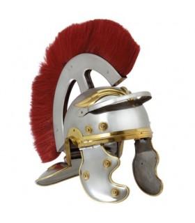 Romano casco Centurion con frontale pennacchio