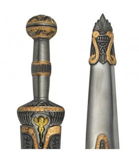 Aquiles pugnale di metallo rivestito