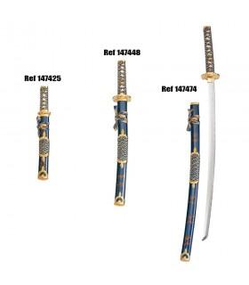guaina blu-oro Wakizashi