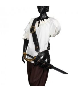 bandoliera di cuoio pirata