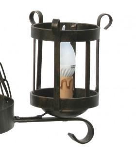 battuto ferro lampada lanterna, 3 bracci