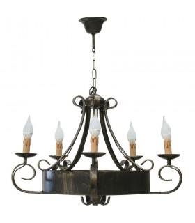 forgiatura lampada a 5 bracci