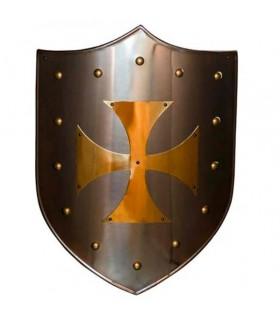 Croce Templare scudo latonado