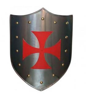 Scudo rosso Croce Templare