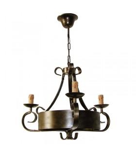 Fucinatura lampada 3 bracci