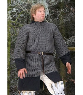 cotta di maglia in acciaio nero