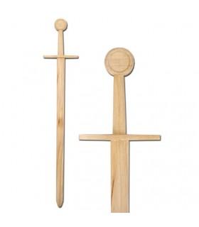 Spada medievale in legno