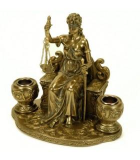 titolari miniatura Themis, dea della giustizia
