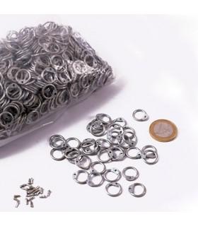 zincato anelli sacchetto della maglia dimensione, 9 mm.