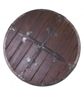 Viking legno scudo, 61 cm.