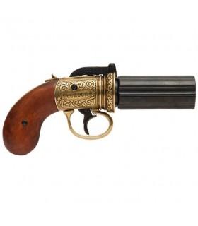 PIMENTERO revolver 6 pistole, fatto di ottone