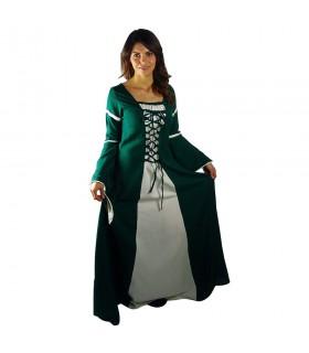 Bicolor donna abito medievale