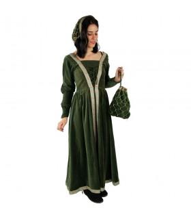 Bolso redecilla mujer noble medieval