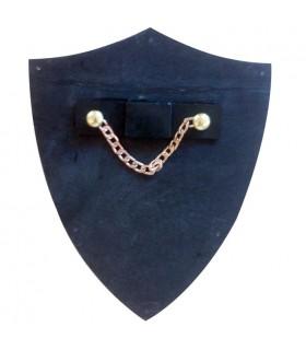 Mini-escudo Príncipe Negro (11x14,5 cms.)
