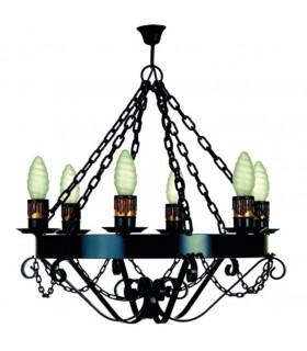 Lampada forge catene, 6 lampadine