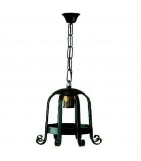 Lanterna forge medievale con 1 luce. (65x26 cms.)