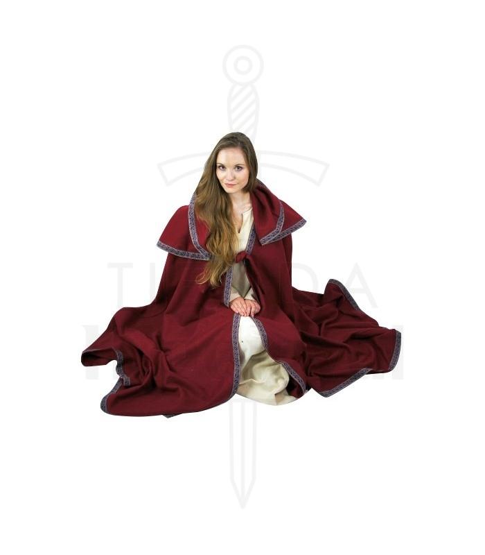 abbigliamento Mantelli cappuccio cappotto di lana medievale. Capa de mujer  grande con capucha b25024ab47d