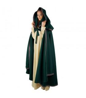 rosso mantello donna incappucciata medioevale