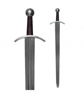 Espada medieval para prácticas con vaina