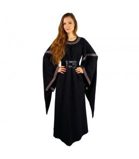 Donna di colore in vestito medioevale-Red