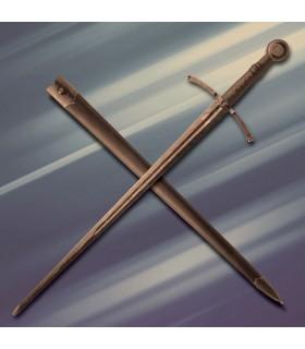 Acre spada medievale combattimento da un lato, affilato