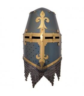 casco con visiera Cruzados spangenhelm