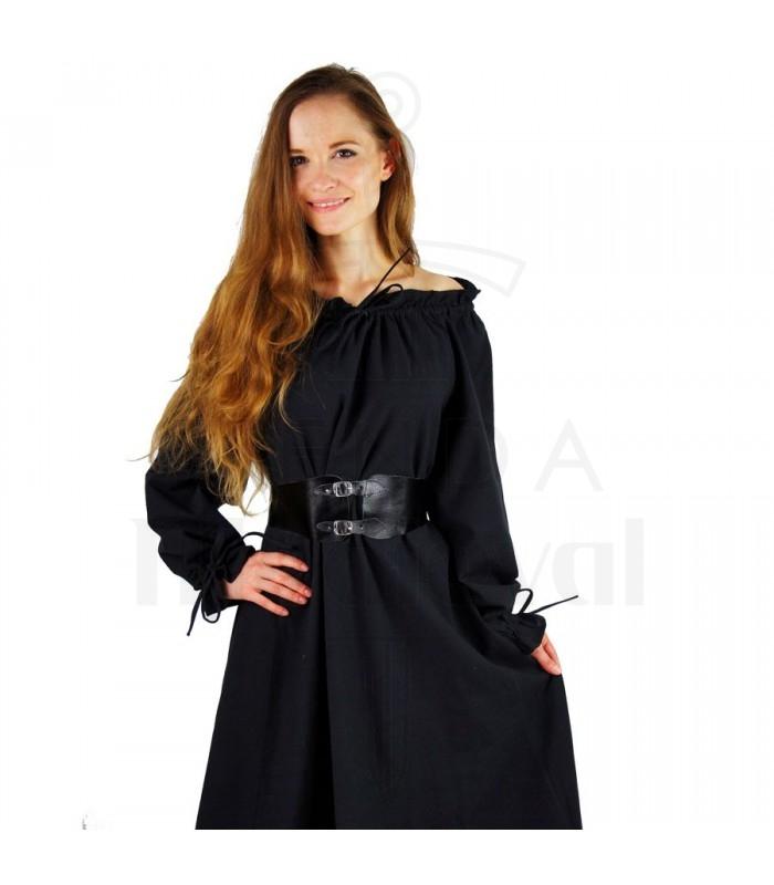sale retailer 8f2c2 3aefa abito lungo nero donne medievali