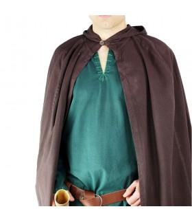 Medievale cappotto nero lungo