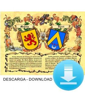 Pergamena Virtuale stemma, 2 cognomi