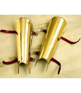 Roman greaves di ottone