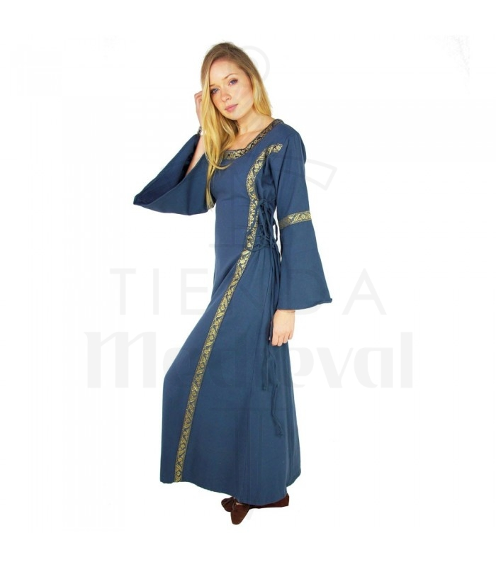 check out d6f1a 19a3b Abito medievale donna blu