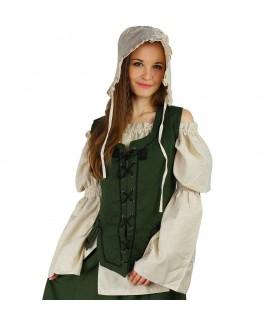 Gilet medievale donna nera