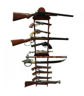 Visualizzazione di 12 cannoni appeso al muro
