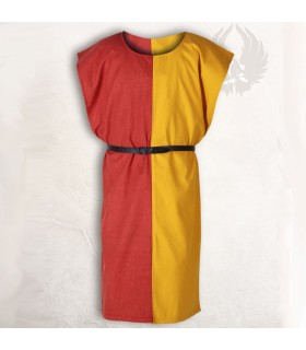 Sobrevesta medieval Ignaz, Rojo-Amarillo