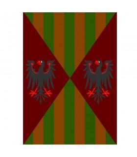 Banner bandiera aquile e bar, varie dimensioni