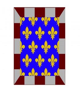 Banner di mosaico medievale fleur de lis, varie dimensioni