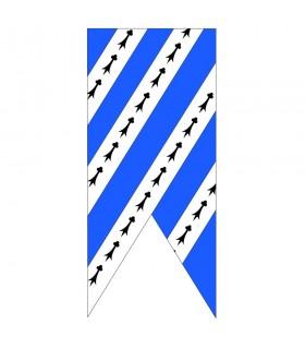 Banner bianco blu cielo medievale
