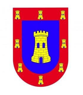 Striscioni medievali del castello dello schermo dell'insegna