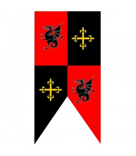 Baracche standard medievali draghi e croci